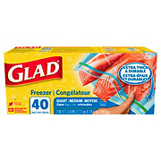 Glad Quart Size Zipper Freezer Bags