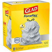 Glad Tall Kitchen Drawstring White 13 Gallon Trash Bags
