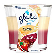 Glade 2in1 Creamy Custard & Apple Cinnamon Candle