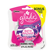Glade Plugins Scented Oil Batik Bazaar With Free Warmer