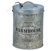 Global Amici Farmhouse Galvanized Canister Large