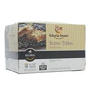 Gloria Jean's Butter Toffee Medium Roast Single Serve Coffee K Cups