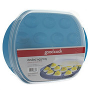 Good Cook Deviled Egg Tray With Cover, Colors May Vary