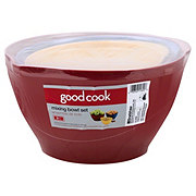 Good Cook Plastic White Mixing Bowl Set