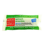 Good Food Made Simple Spinach Scramble Burrito