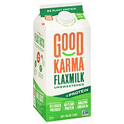 Good Karma Unsweetened Original + Protein Flax Milk