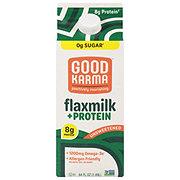 Good Karma Unsweetened Original + Protein Flax Milk