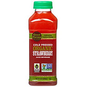 GoodFarms Cold Pressed Organic Strawberry Juice