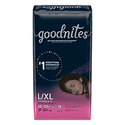 GoodNites Bedtime Bedwetting Underwear for Girls, L-XL