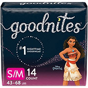 GoodNites Bedtime Bedwetting Underwear for Girls, S-M