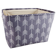 Gourmet Home Products Large Rectangular Storage Bin Gray