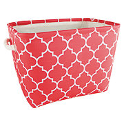 Gourmet Home Products Medium Rectangular Storage, Coral