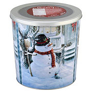 Gourmet Select Snowman With Broom Popcorn Tin
