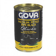 Goya Medium Ripe Black Olives Pitted