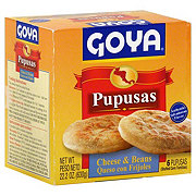 Goya Pupusas con Queso y Frijoles, Stuffed Corn Tortillas with Cheese & Beans