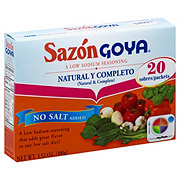 Goya Sazon Natural And Complete Low Sodium Seasoning