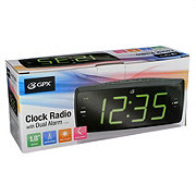 GPX Digital AM/FM Dual Alarm Clock Radio (C353B)