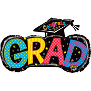 Graduation 37 Inch Big Grad Mighty Bright Balloon