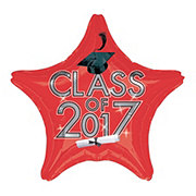 Graduation Class of 2017 Red Foil Balloon