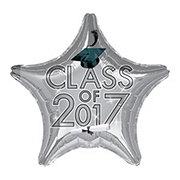 Graduation Class of 2017 Silver Foil Balloon
