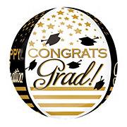 Graduation Congrats Grad Gold & Black Balloon