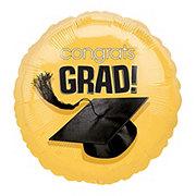 Graduation Congrats Grad Gold Foil Balloon