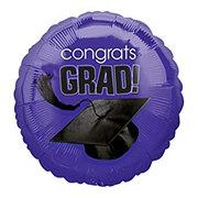 Graduation Congrats Grad Purple Foil Balloon
