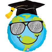 Graduation Look Out World Balloon