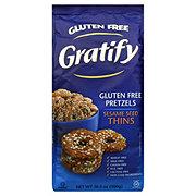 Gratify Gluten Free Sesame Seed Pretzel Thins