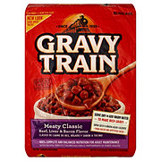 Gravy Train Dog Food, Meaty Classic - Beef, Liver & Bacon