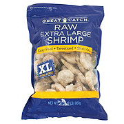 Great Catch Frozen Raw Extra Large Shrimp Easy Peel Deveined Shell-On, 26/30 ct