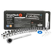 Great Neck 40-Piece Driver Socket Set 1/4 Inch & 3/8 Inch