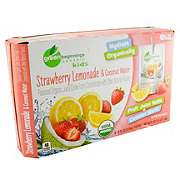 Green Beginnings Organic Strawberry Lemonade Juice and Coconut Water 6 oz Pouches