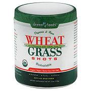 Green Foods Organic And Raw Wheat Grass Shots