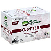 Green Mountain Coffee Organic Sumatra Aceh Dark Roast Single Serve Coffee K Cups