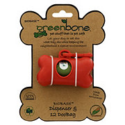 Greenbone Biobase Dispenser With Pet Waste Bags
