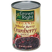 Grown Right Organic Whole Cranberry Sauce