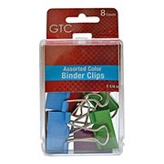 GTC 1 1/4 Inch Assorted Color Binder Clips