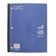 GTC 1 Subject Wide Ruled Notebook 80 Sheets, Assorted Colors