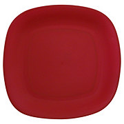 GTC 10 In. Square Dinner Plate Red