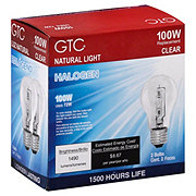 GTC 100 Watt Halogen Clear Light Bulbs