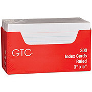 GTC 3 x 5 Inch Ruled Index Cards