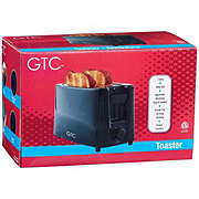 GTC Black 2 Slice Wide Toaster