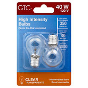 GTC Clear Intermediate Base 40 Watt High Intensity Light Bulbs