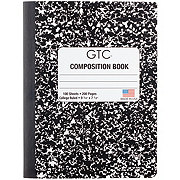 GTC College Ruled Black Composition Book 100 Sheets