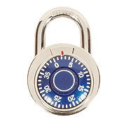GTC Combination Color Pad Lock, Blue