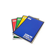 "GTC Gregg Ruled 6"" x 9"" Steno Pad, Assorted Colors"
