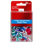 GTC J-Hook Assorted Color Push Pins