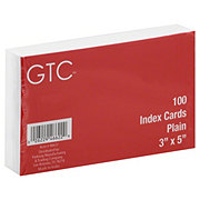 GTC Plain 3x5 in Index Cards