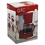 GTC Red 10-Cup Coffeemaker